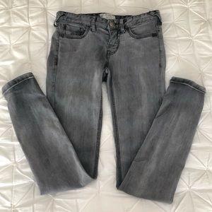 Free People Gray Skinny Jeans